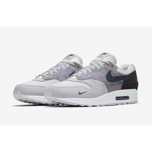 Shoes Low top trainers Nike Air Max 1 London Smoke Grey/Valerian Blue/DK Smoke Grey