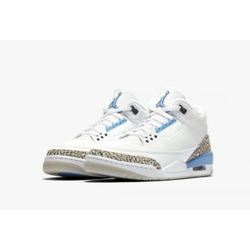 Shoes Hi top trainers Nike Air Jordan 3 UNC White/Valor Blue-Tech Grey