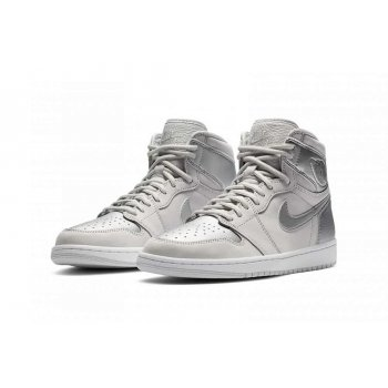 Shoes Hi top trainers Nike Air Jordan 1 Japan Silver Neutral Grey/White/Metallic Silver