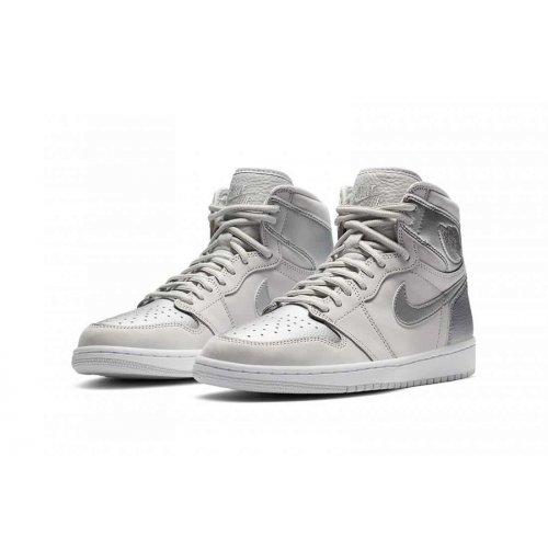 Shoes Hi top trainers Nike Air Jordan 1 Japan Silver Neutral Grey/White/Metallic Silver