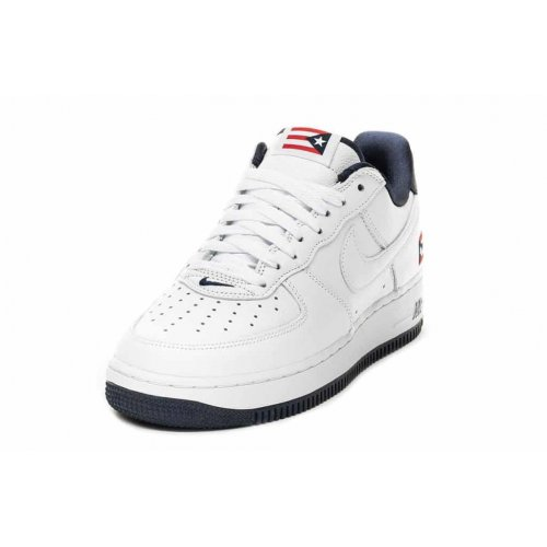 Shoes Low top trainers Nike Air Force 1 Low Puerto Rico True White/True White-Obsidian-Comet Red