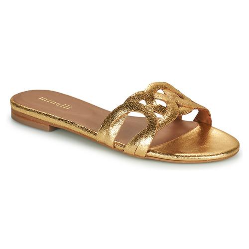 Shoes Women Mules Minelli NANCIA Gold