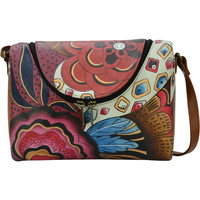 Bags Women Shoulder bags Anuschka 7304 Tribal Potpourri - Hand Painted Leather Multicolour