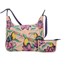 Bags Women Shoulder bags Anuschka BN002 Tropical Toucan -Hand Painted Leather Multicolour