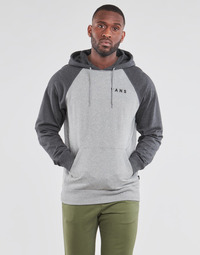 Clothing Men Sweaters Vans ATHLETIC RAGLAN PO Grey / Black