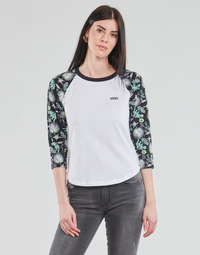 Clothing Women Long sleeved tee-shirts Vans CALIFAS White / Black
