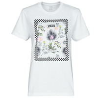 Clothing Women Short-sleeved t-shirts Vans BORDER FLORAL BF White