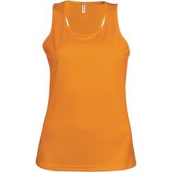Clothing Women Tops / Sleeveless T-shirts Proact Débardeur femme  Sport orange
