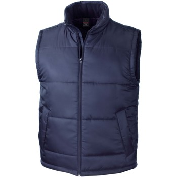 Clothing Jackets / Cardigans Result Doudoune Sans Manche  Core bleu marine