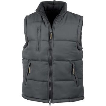Clothing Jackets / Cardigans Result Doudoune Sans Manche  Doublé noir