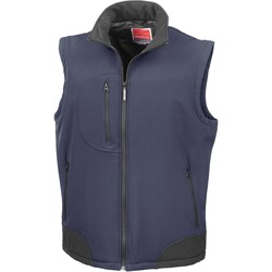 Clothing Jackets / Cardigans Result Doudoune Sans Manche  Softshell bleu marine