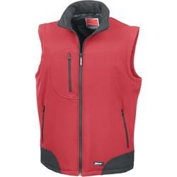 Clothing Jackets / Cardigans Result Doudoune Sans Manche  Softshell rouge/noir