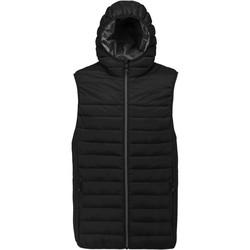 Clothing Men Jackets / Cardigans Proact Doudoune sans manches à capuche noir