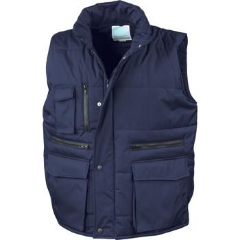 Clothing Men Duffel coats Result Doudounes Sans Manches  Matelassé Ripstop bleu marine