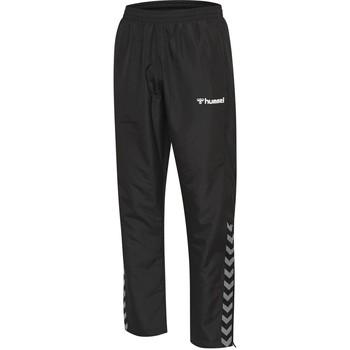 Clothing Children Tracksuit bottoms Hummel Pantalon enfant  hmlAUTHENTIC Micro noir/blanc