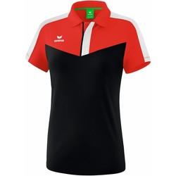 Clothing Women Short-sleeved polo shirts Erima Polo femme  Squad rouge/noir/blanc
