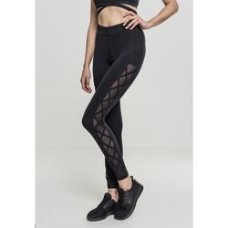 Clothing Women Leggings Urban Classics Legging femme Urban Classic Ribbon noir