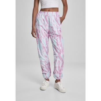 Clothing Women Tracksuit bottoms Urban Classics Pantalon femme Urban Classic slim bleu aqua/rose