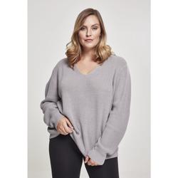 Clothing Women Sweaters Urban Classics Sweatshirt femme Urban Classic back lace up GT gris