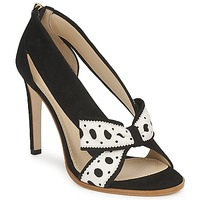 Shoes Women Heels Moschino DELOS ESCA Black / Ivory