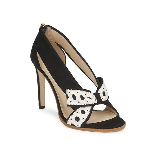 Shoes Women Heels Moschino DELOS ESCA Black / Ivory