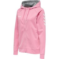 Clothing Women Sweaters Hummel Veste à capuche femme  Hmlgo Zip rose