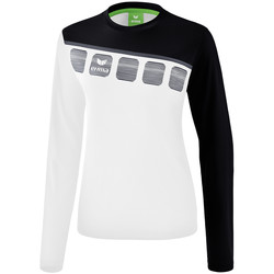 Clothing Women Sweaters Erima Haut d'entrainement femme manches longues  5-C blanc/noir/gris