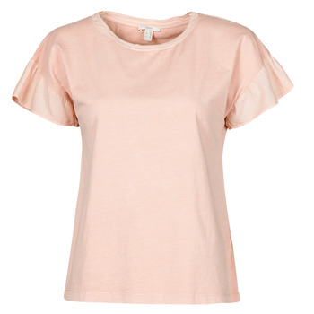 Clothing Women Short-sleeved t-shirts Esprit T-SHIRTS Pink