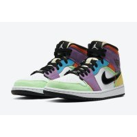 Shoes Hi top trainers Nike Air Jordan 1 Mid MNS Lightbulb White/Black-Lightbulb-Team Orange