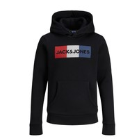 Clothing Boy Sweaters Jack & Jones JJECORP LOGO PLAY SWEAT Black