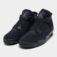 Shoes Hi top trainers Nike Air Jordan 4 Black Cat Black/Black-Light Graphite