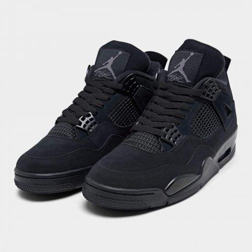 Shoes Hi top trainers Nike Air Jordan 4 Black Cat Black/Black-Light Graphite
