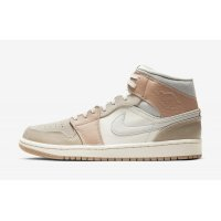 Shoes Hi top trainers Nike Air Jordan 1 Mid Milan Sail/Light Bone-String-Shimmer