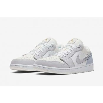 Shoes Low top trainers Nike Air Jordan 1 Low Paris White/Sky Grey-Football Grey