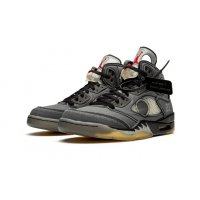 Shoes Hi top trainers Nike Air Jordan 5 x Off White Black Black/Black-Metallic Gold