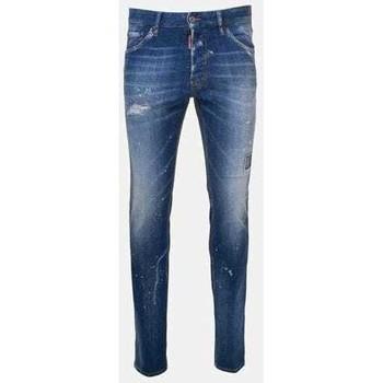 Clothing Men Slim jeans Dsquared S74LB0670S30342_470stonewash blue