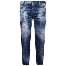 Clothing Men Slim jeans Dsquared S74LB0798S30342_470stonewash blue