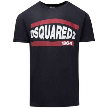 Clothing Men Short-sleeved t-shirts Dsquared S74GD0639S21600_900black black