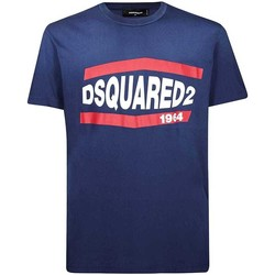 Clothing Men Short-sleeved t-shirts Dsquared S74GD0639S21600_470blue blue