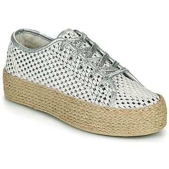 Shoes Women Low top trainers Café Noir DROMA White / Silver