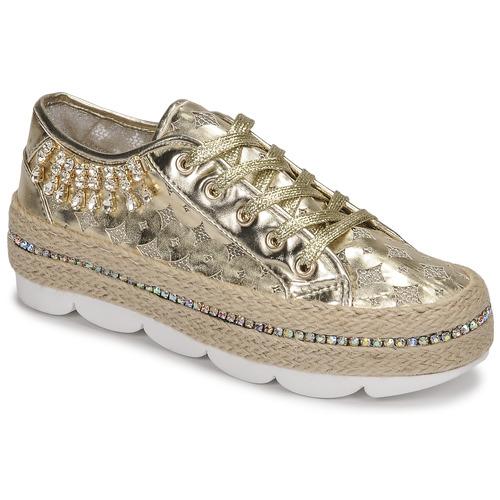 Shoes Women Low top trainers Café Noir KINITA Gold