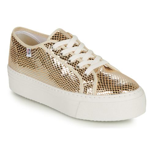 Shoes Women Low top trainers Yurban SUPERTELA Gold