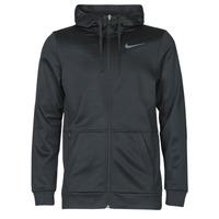 Clothing Men Sweaters Nike TF HD FZ Black / Grey
