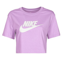 Clothing Women Short-sleeved t-shirts Nike NSTEE ESSNTL CRP ICN FTR Purple / White
