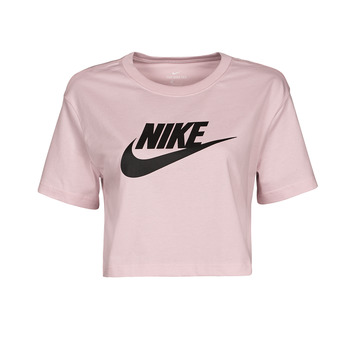 Clothing Women Short-sleeved t-shirts Nike NSTEE ESSNTL CRP ICN FTR Pink / Black