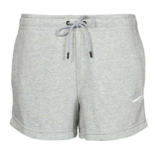 Clothing Women Shorts / Bermudas Nike NSESSNTL FLC HR SHORT FT Grey / White