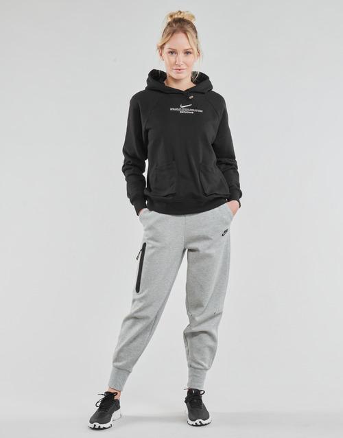 Clothing Women Tracksuit bottoms Nike NSTCH FLC ESSNTL HR PNT Grey / Black