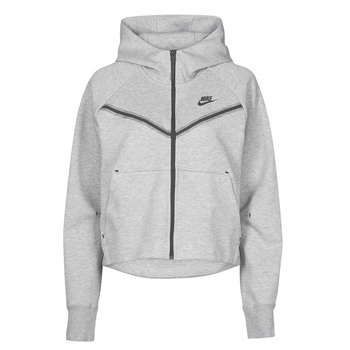 Clothing Women Track tops Nike NSTCH FLC WR ESSNTL FZ HDY Grey