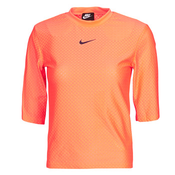 Clothing Women Short-sleeved t-shirts Nike NSICN CLSH TOP SS MESH Orange