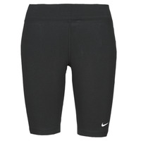 Clothing Women Leggings Nike NSESSNTL MR BIKER SHORT Black / White